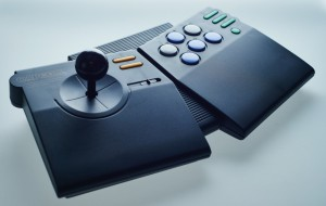 The Capcom CPS Fighter A10CA Joystick.  More info.